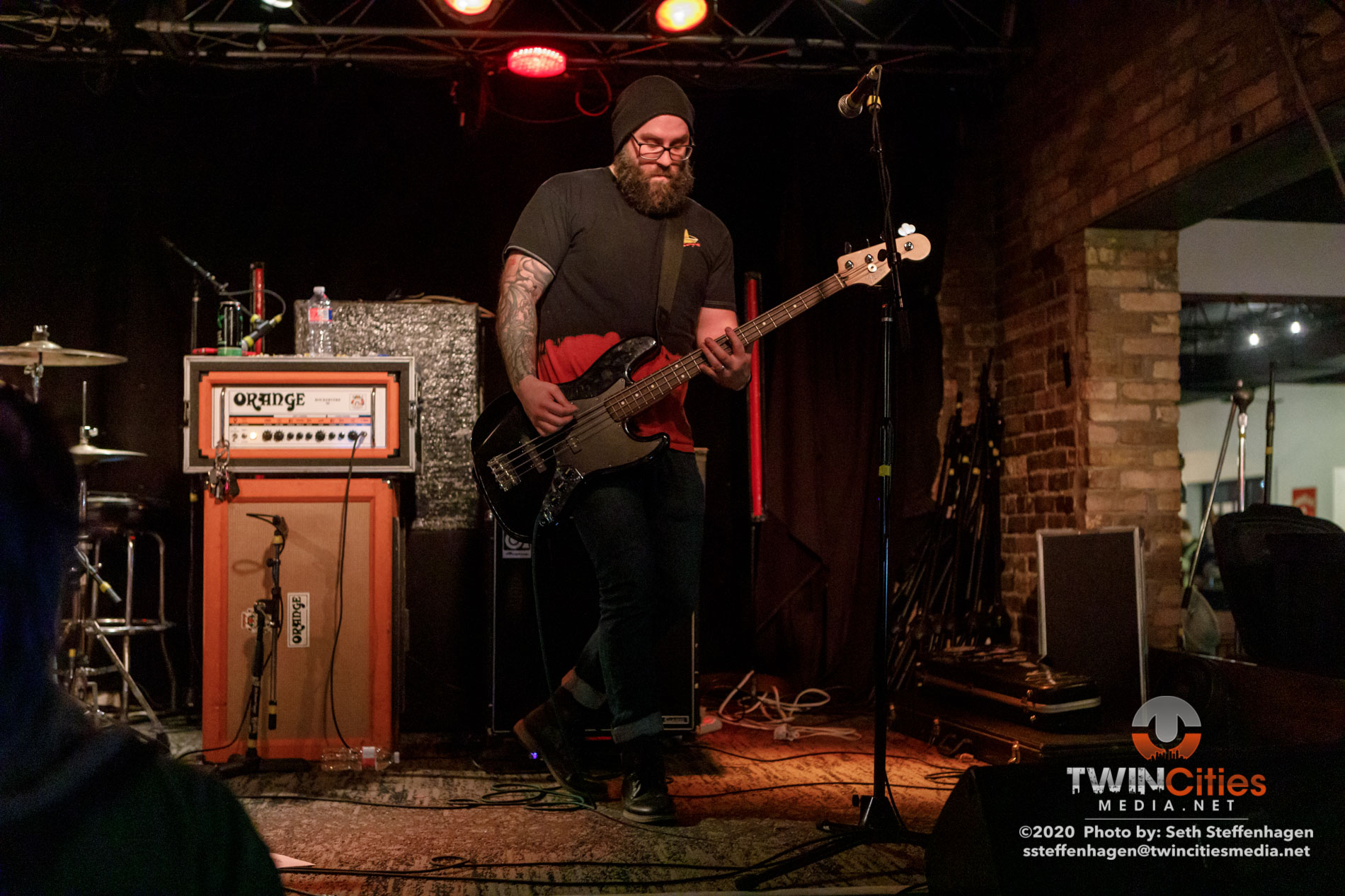 March 1, 2020 - Minneapolis, Minnesota, United States - Cities Never Sleep live in concert at Whiskey Junction opening for Coyote Kid.  (Photo by Seth Steffenhagen/Steffenhagen Photography)