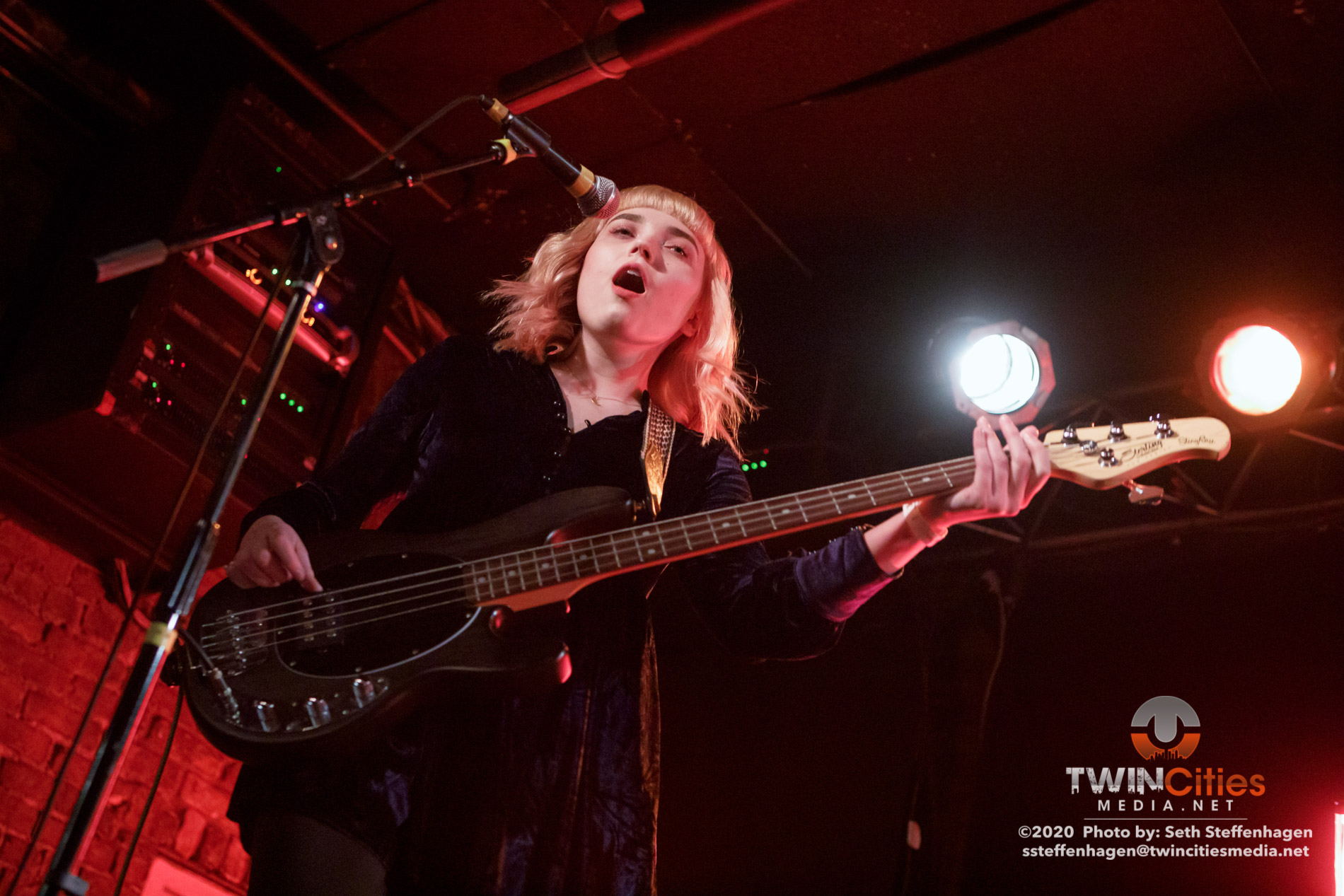 March 1, 2020 - Minneapolis, Minnesota, United States - Coyote Kid live in concert at Whiskey Junction along with Careful Gaze, Vermillion Heights, Cities Never Sleep and Left Unread as the openers.  (Photo by Seth Steffenhagen/Steffenhagen Photography)