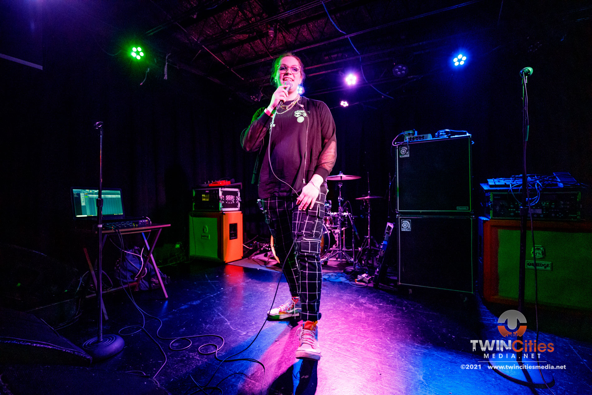 August 5, 2021 - Minneapolis, Minnesota, United States - Happy Birthday Mr. Baskets live in concert at 7th Street Entry  opening for Coyote Kid.  (Photo by Seth Steffenhagen/Steffenhagen Photography)