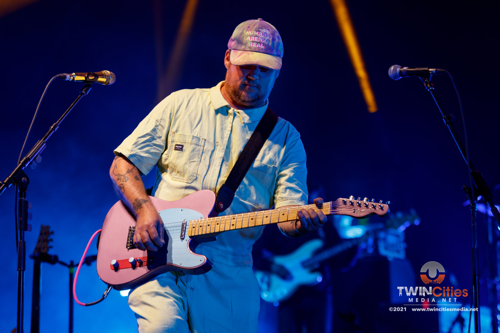 August 22, 2021 - Minneapolis, Minnesota, United States - Modest Mouse live in concert at the The Armory along with The Districts as the openers.  (Photo by Seth Steffenhagen/Steffenhagen Photography)